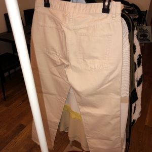 NWT Free People Cream cropped jeans!
